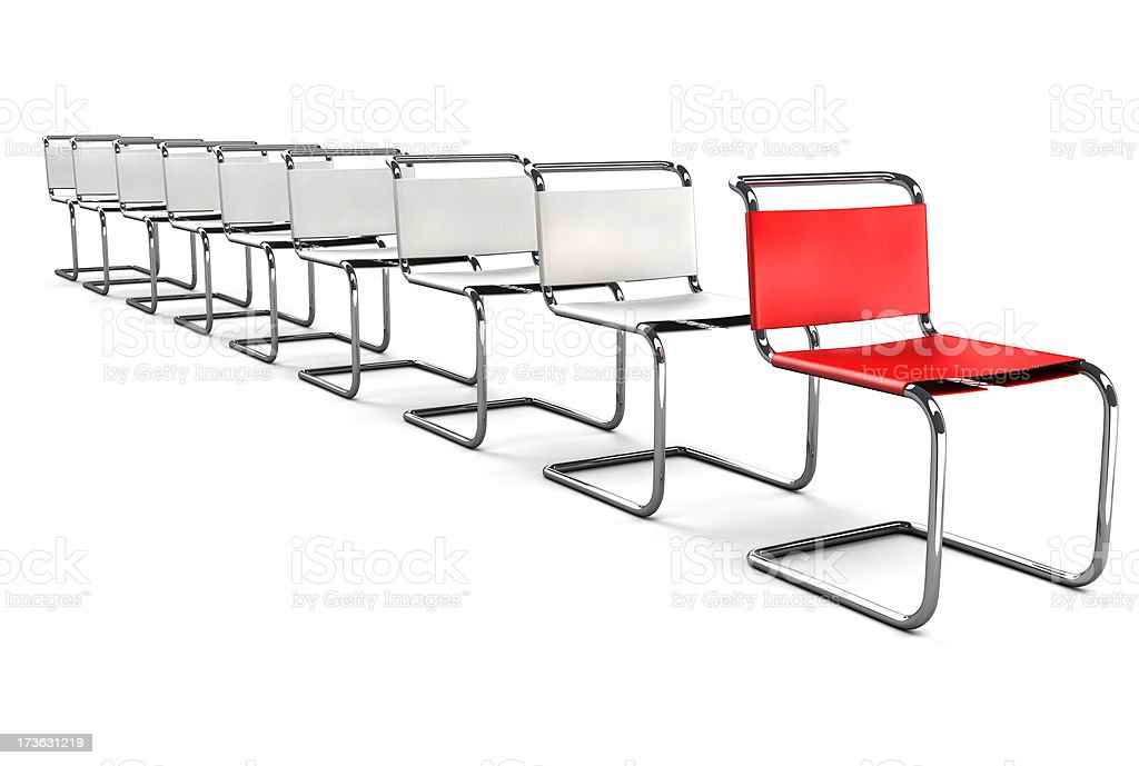 Office Chair Concept - First in Line royalty-free stock photo