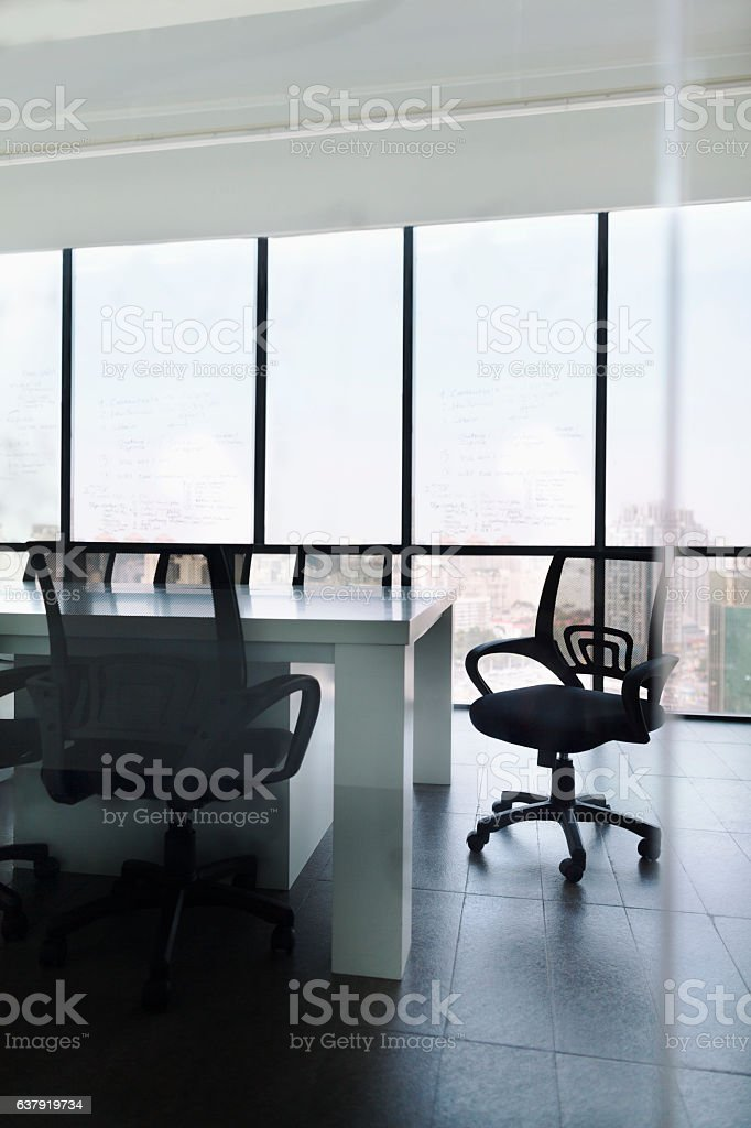 Office chair in meeting room stock photo