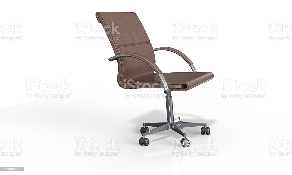 Office Chair isolated on white royalty-free stock photo