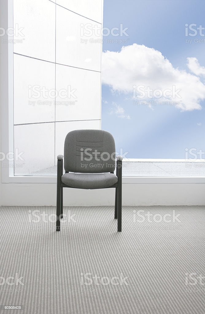office chair with a view royalty-free stock photo