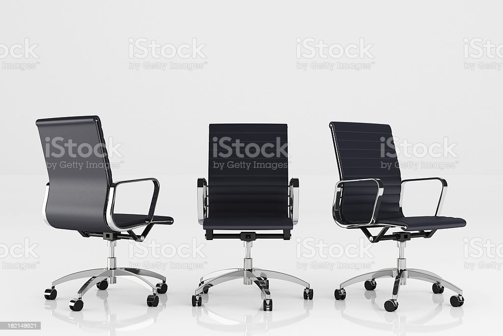 Office Chairs - Clipping path royalty-free stock photo