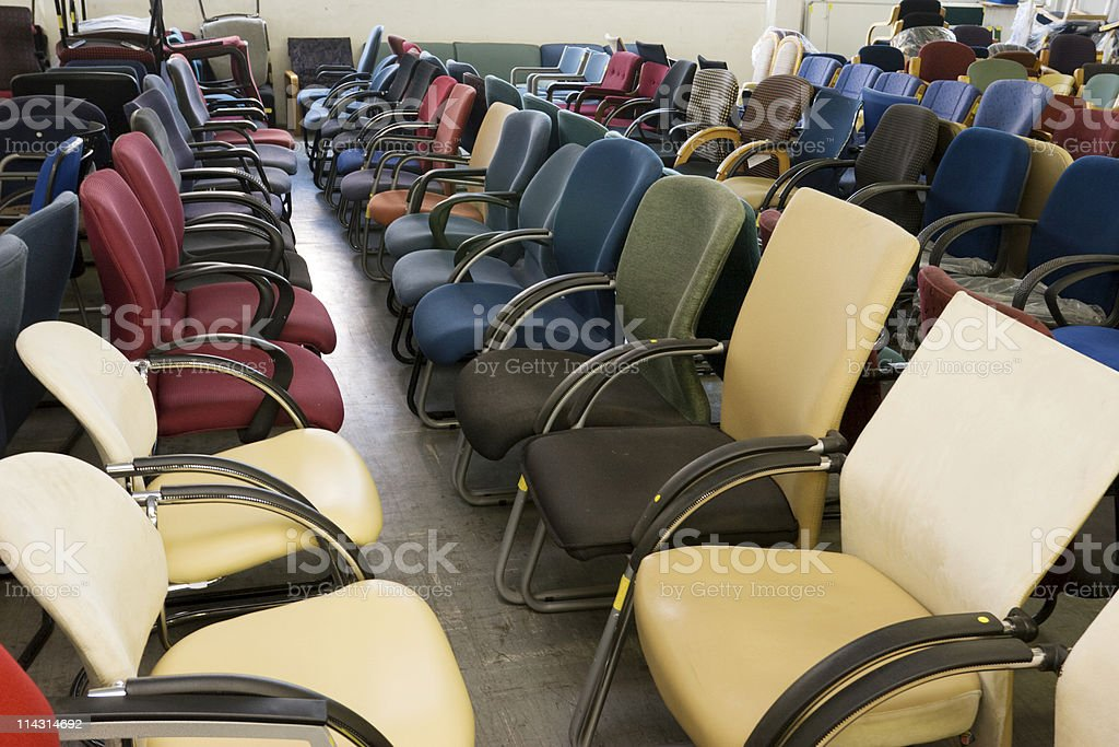 Office chairs galore royalty-free stock photo