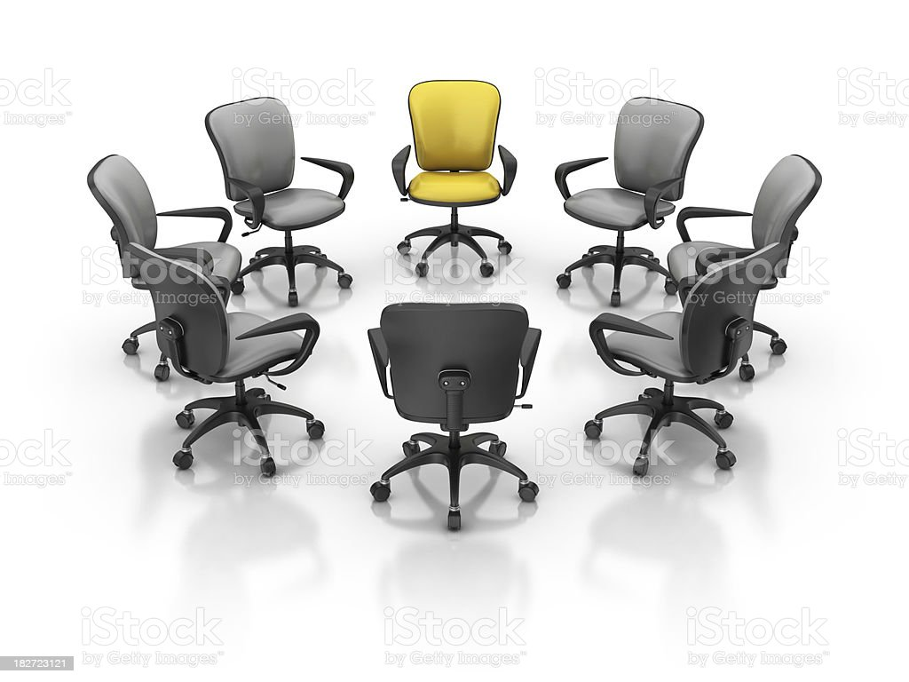 office chairs in circle royalty-free stock photo
