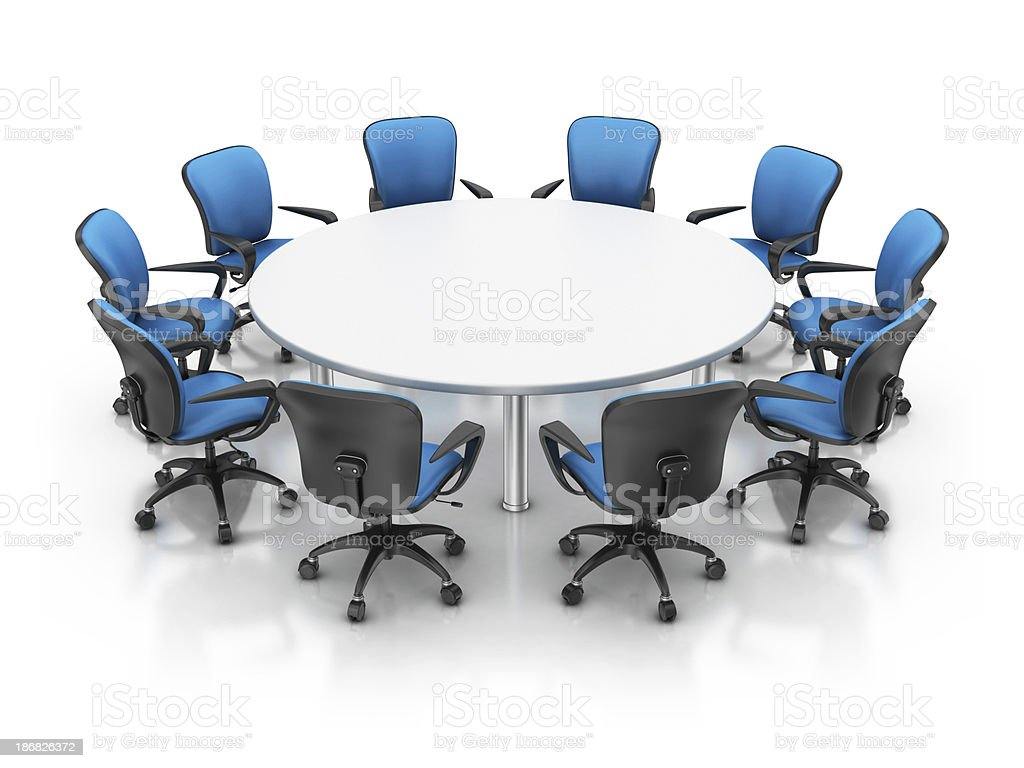 office chairs with table stock photo