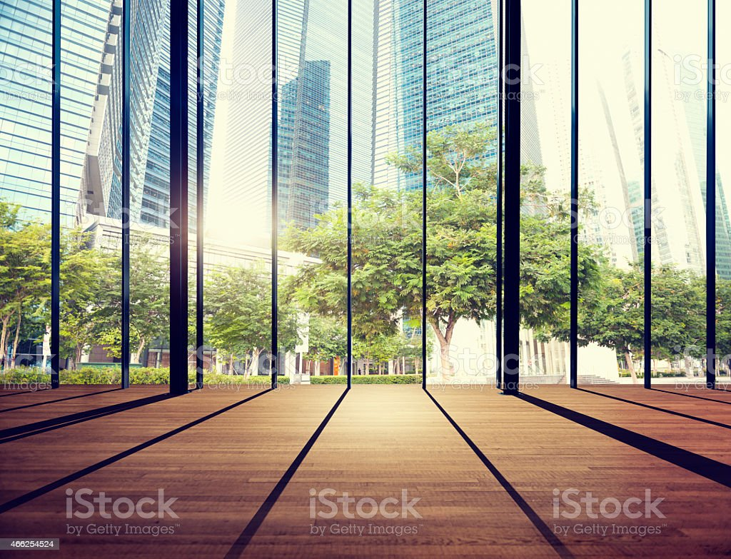 Office Cityscape Buildings Contemporary Interior Room Modern Co stock photo