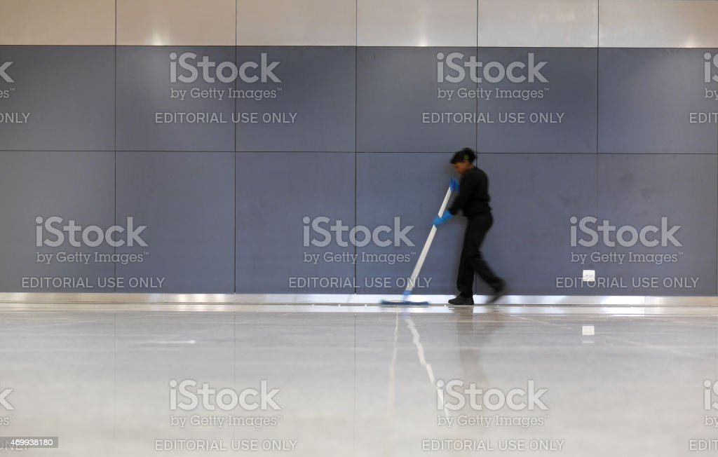 Office cleaner stock photo