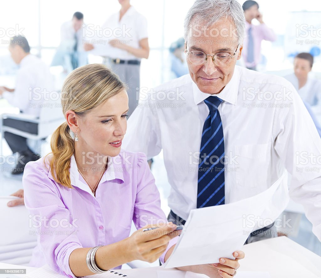 Office colleges at work. royalty-free stock photo
