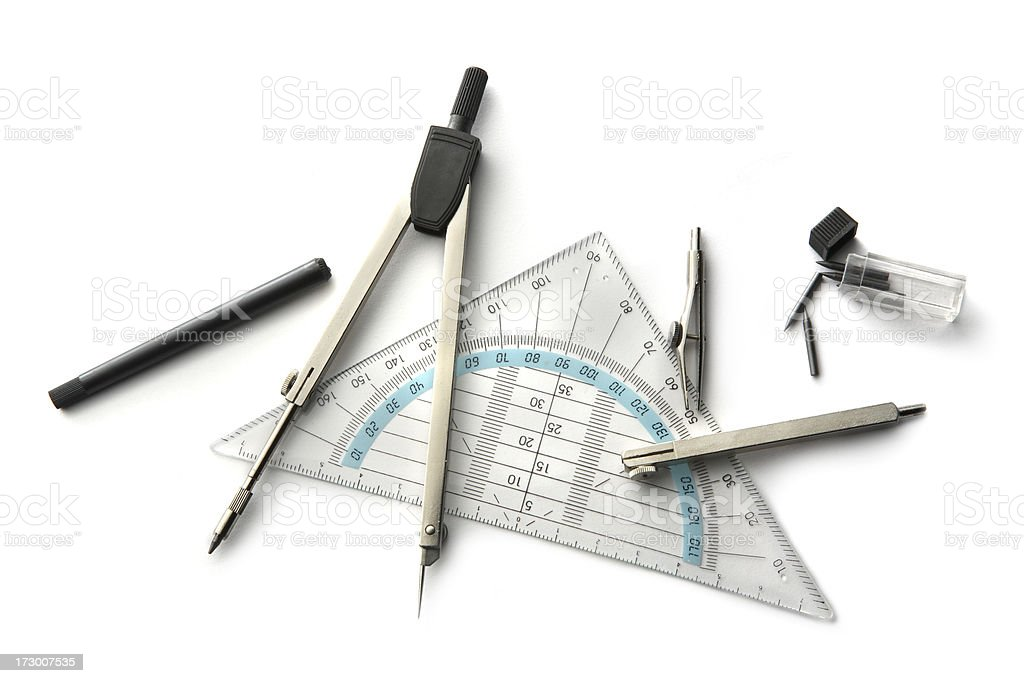 Office: Compasses stock photo