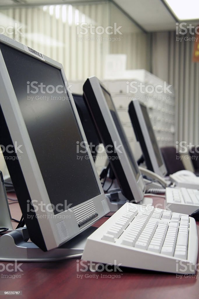 office computers stock photo