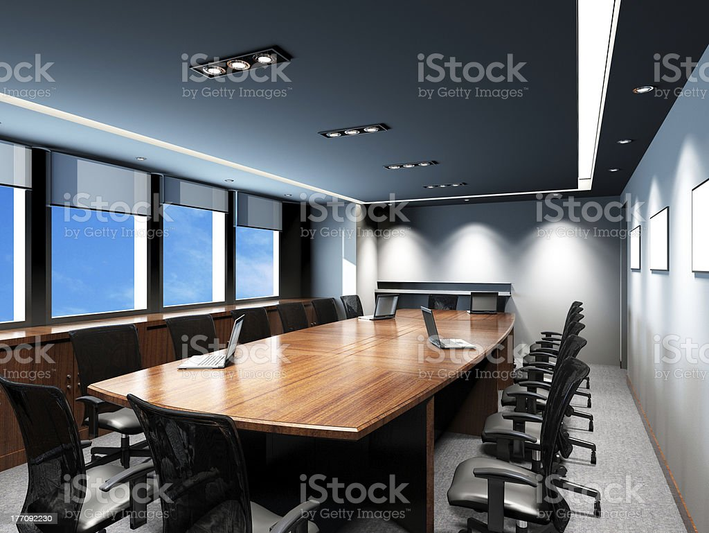 Office conference room with modern decorations stock photo