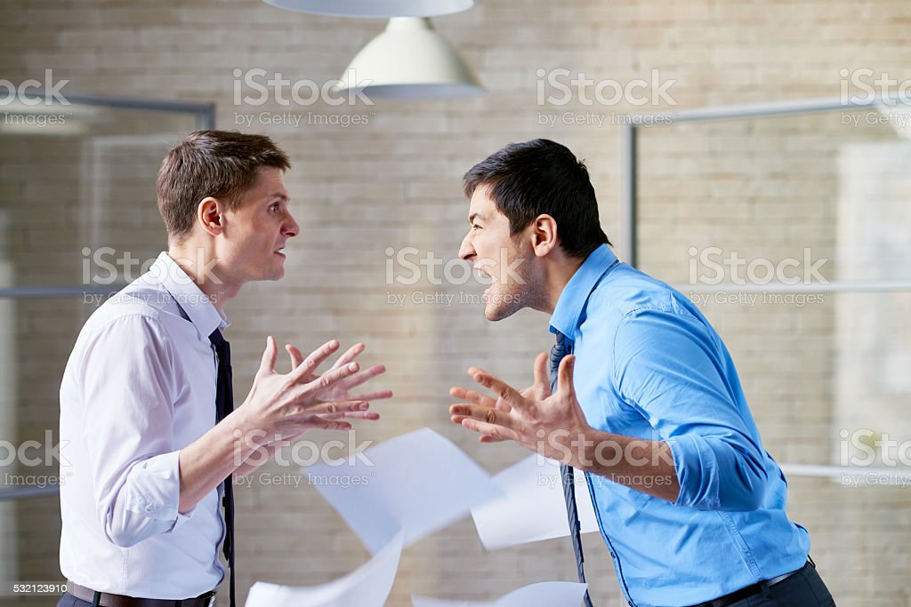 Office confrontation stock photo