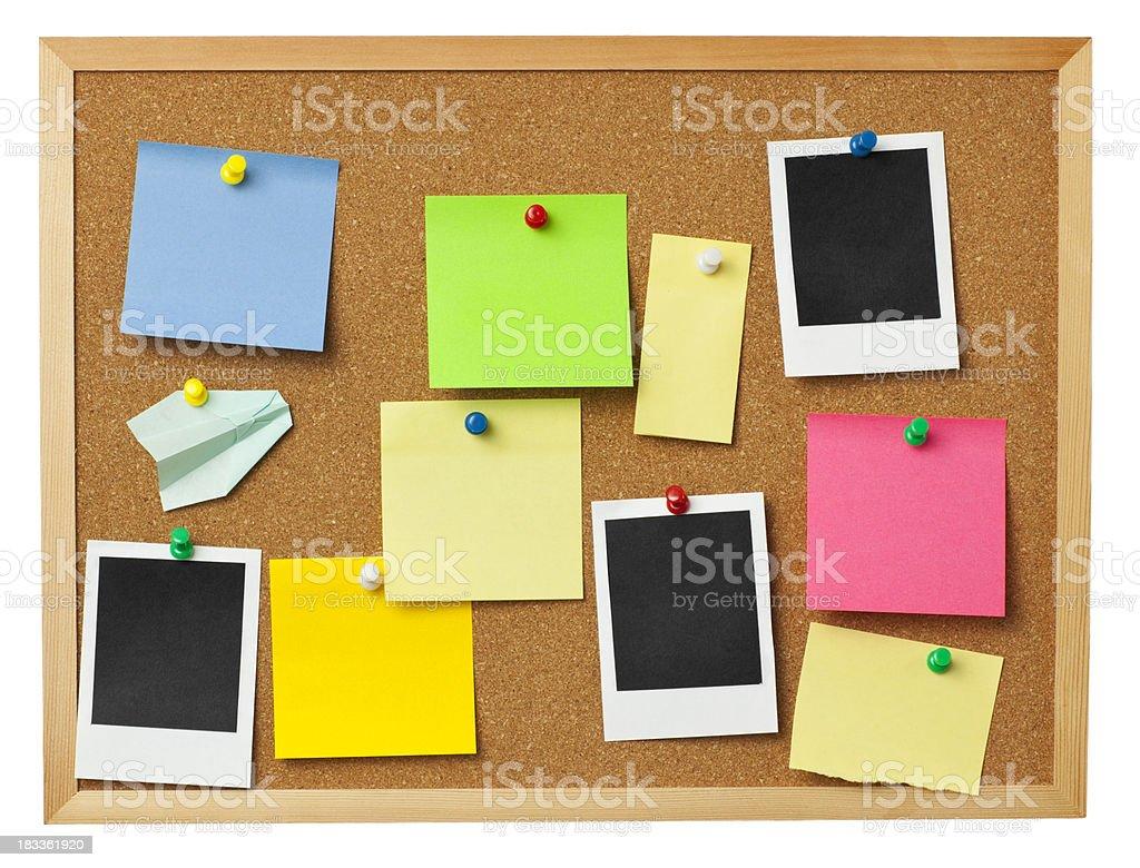 Office cork board. stock photo