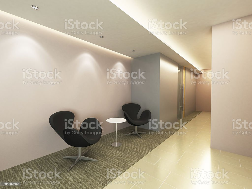 Office Corridor Area royalty-free stock photo