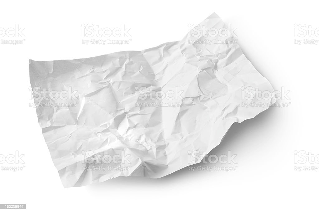 Office: Crumpled White Paper royalty-free stock photo