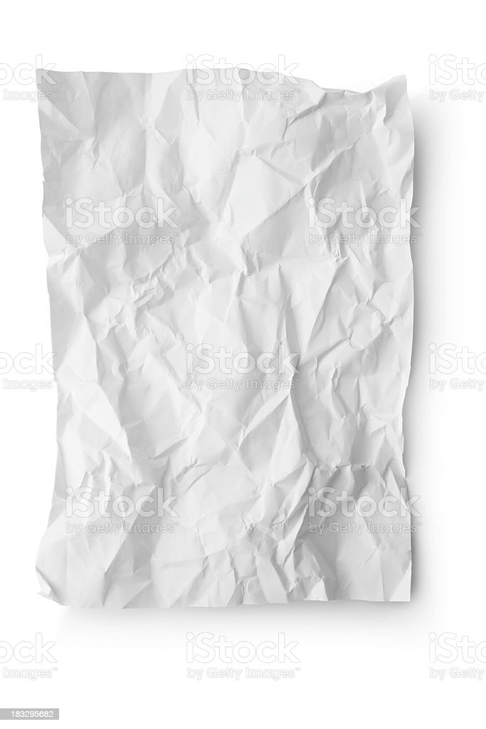 Office: Crumpled White Paper stock photo