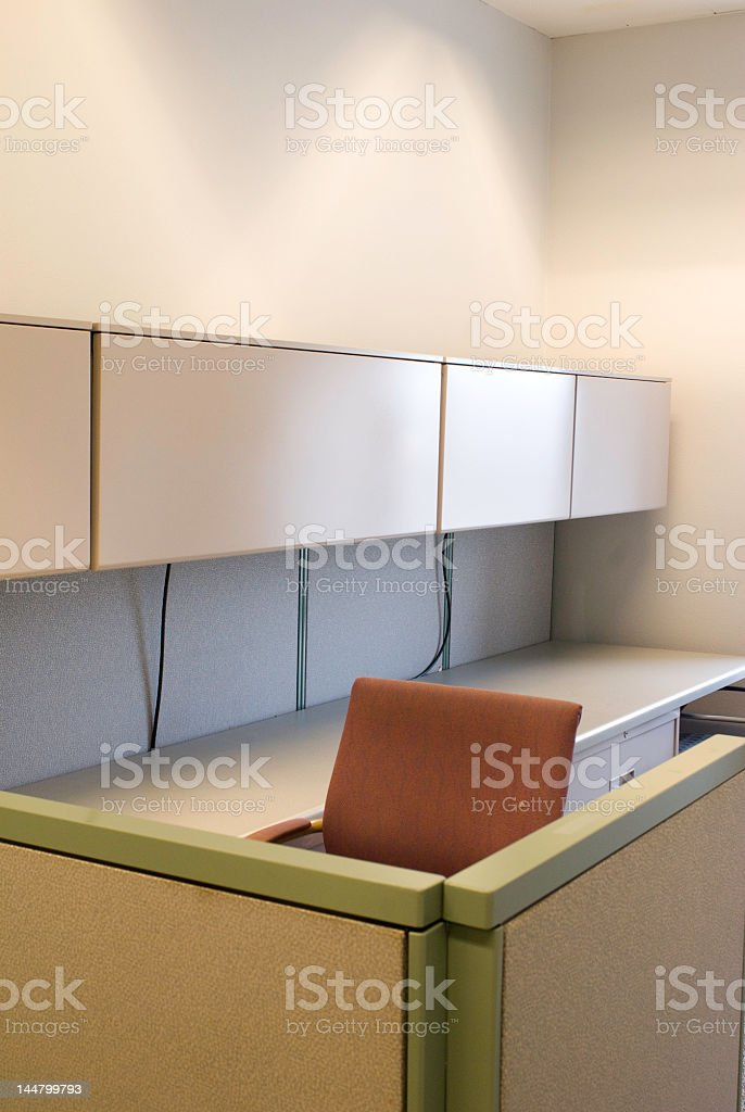 Office Cubicle stock photo