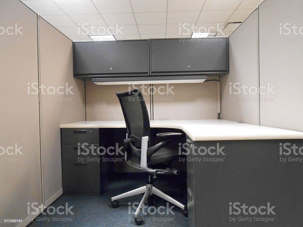 Office Cubicle. stock photo