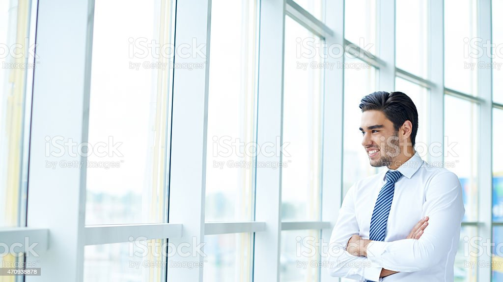 Office day dreaming stock photo