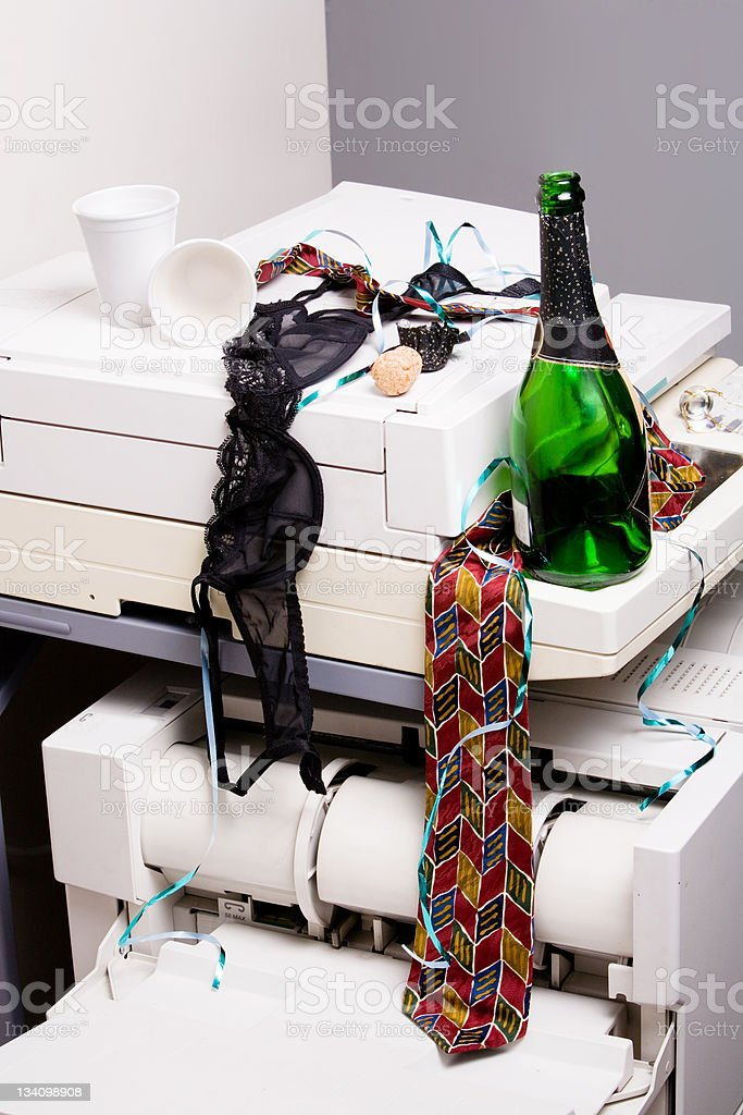 Office debauchery tableau royalty-free stock photo