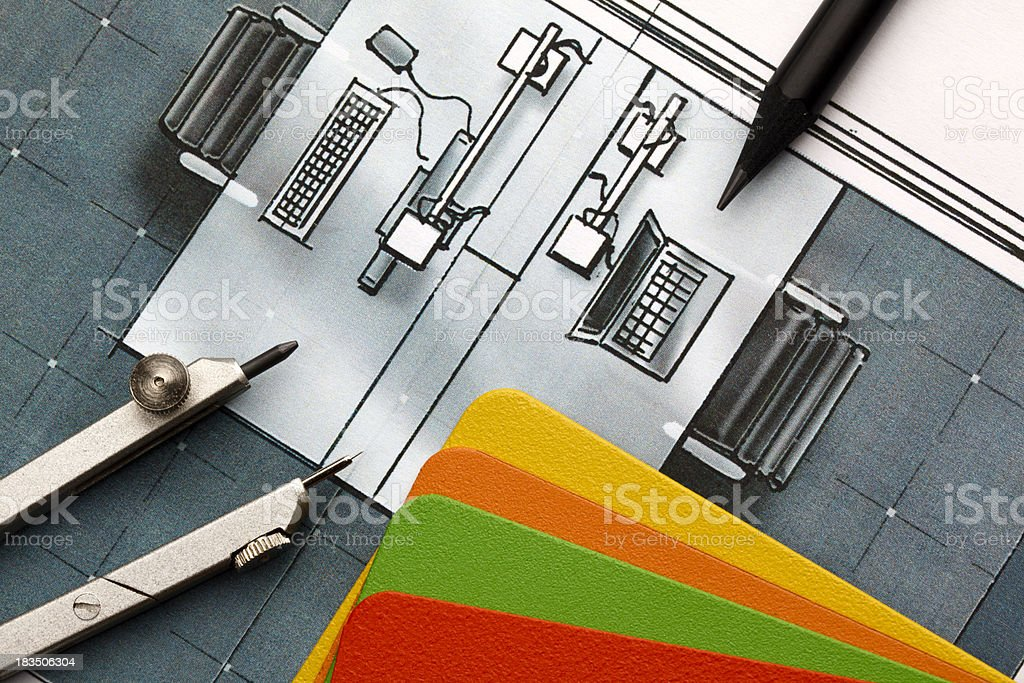Office Design Concept royalty-free stock photo