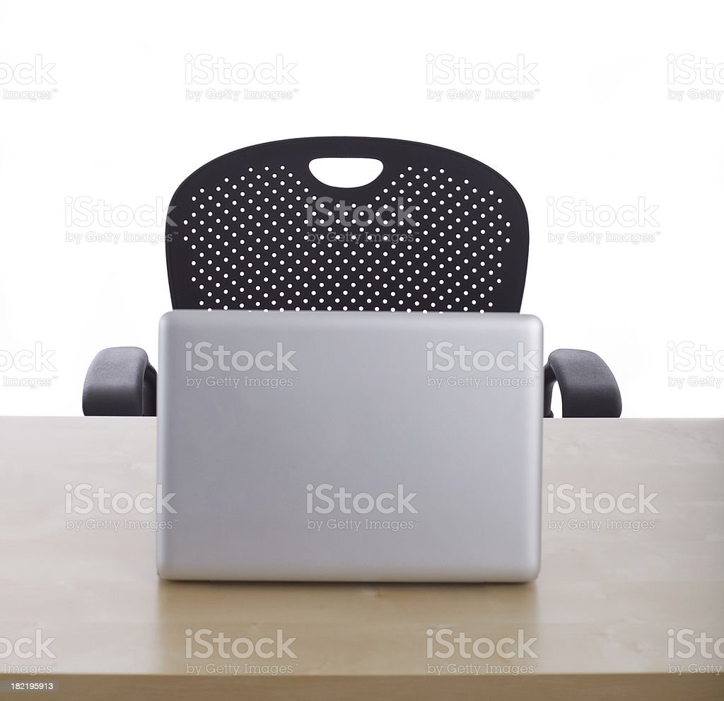Office Desk & Chair royalty-free stock photo
