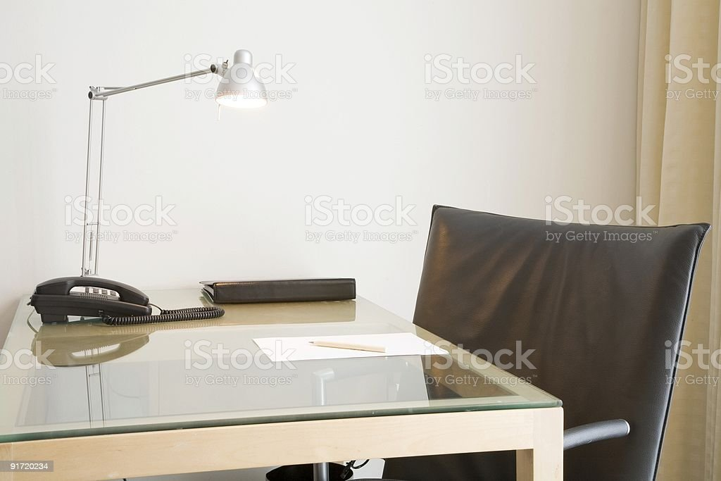 Office desk and chair royalty-free stock photo