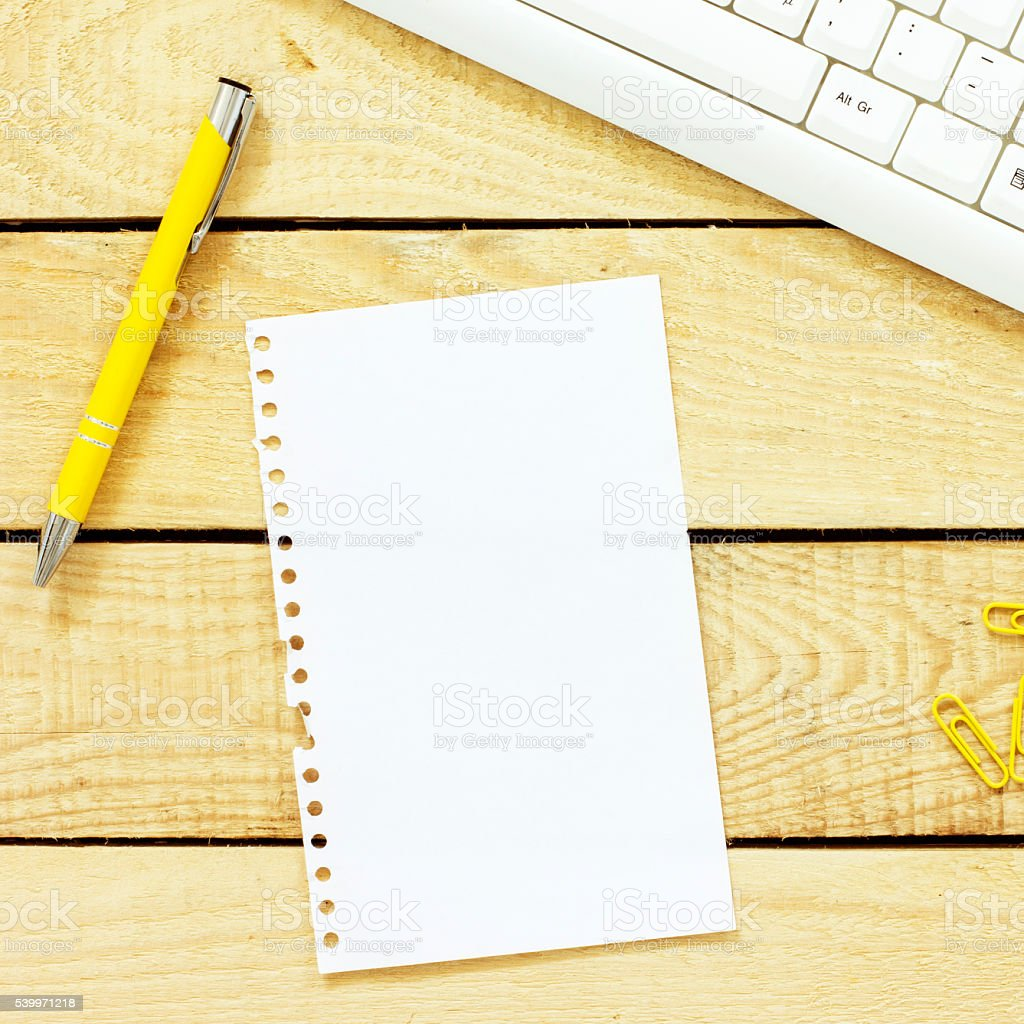 Office Desk Background stock photo