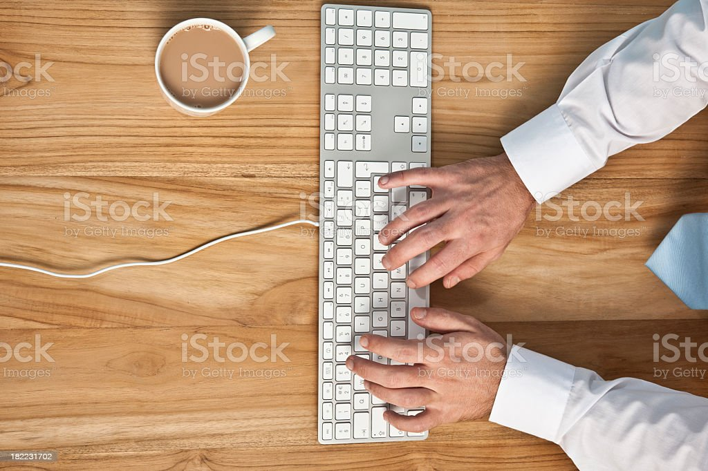 Office desk from above royalty-free stock photo
