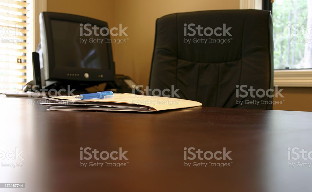 Office Desk with Folder royalty-free stock photo