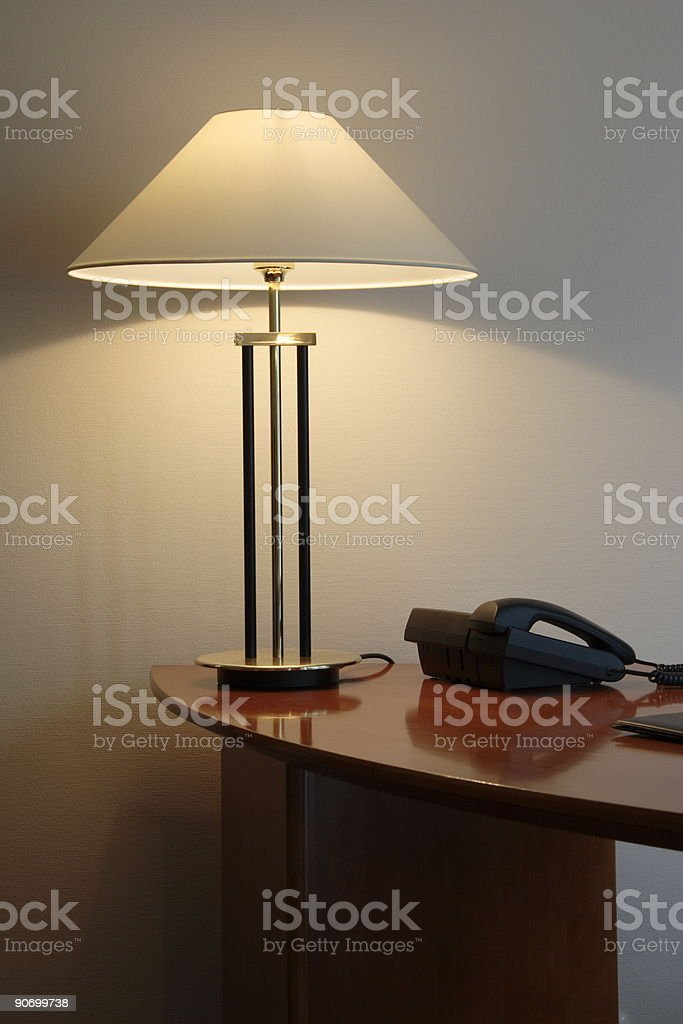 office desk with lamp royalty-free stock photo