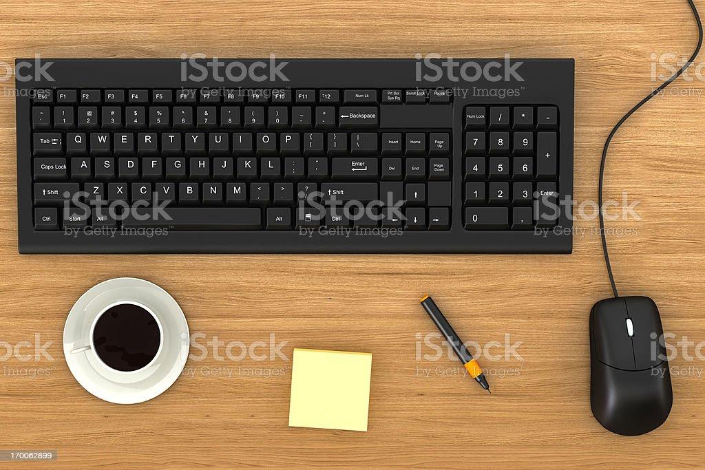 Office Desktop royalty-free stock photo