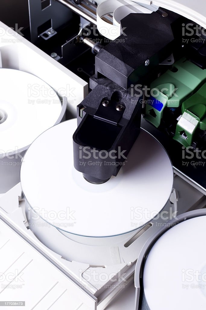 Office disc duplicator stock photo