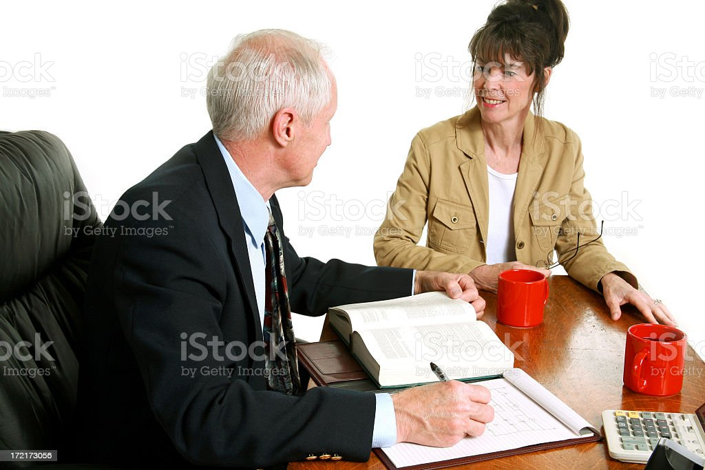 Office discussions royalty-free stock photo