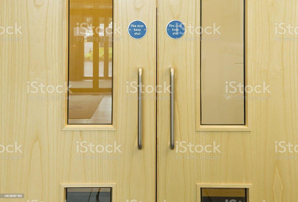 Office doors stock photo