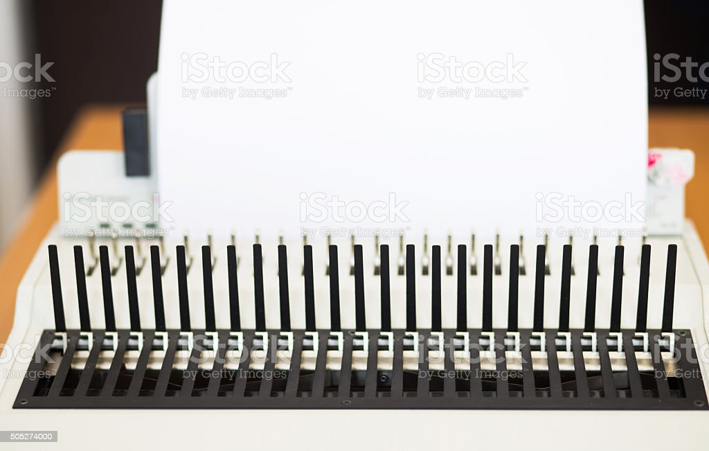 Office equipment bookbinding stock photo