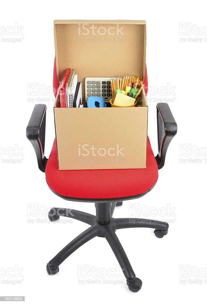Office Equipments on Chair stock photo