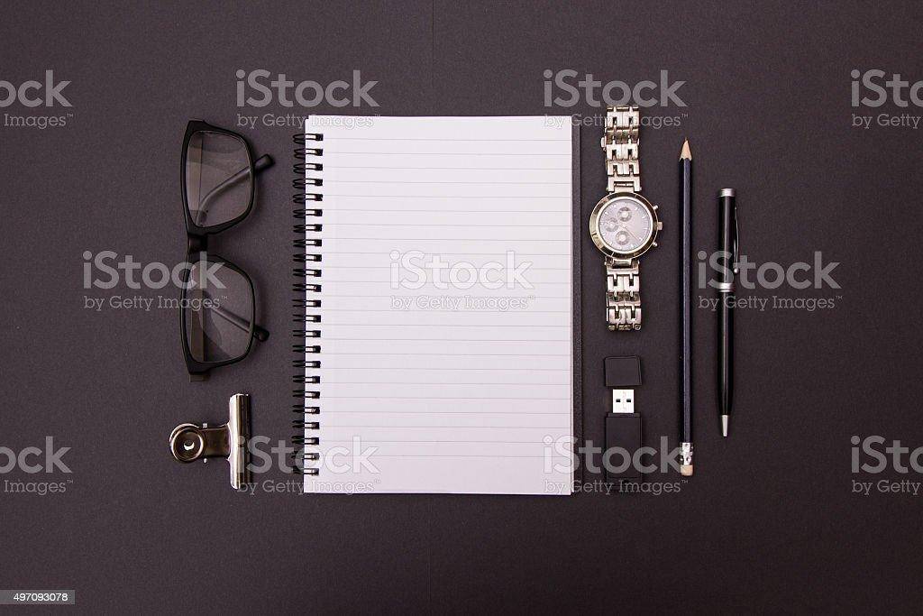 Office essentials stock photo