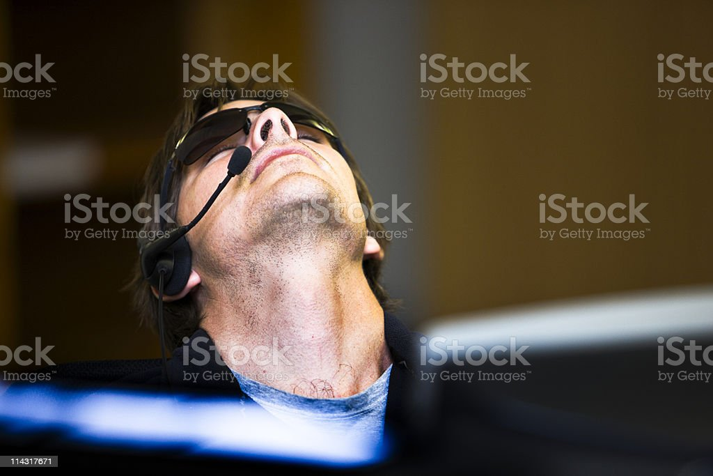 Office exhaustion royalty-free stock photo