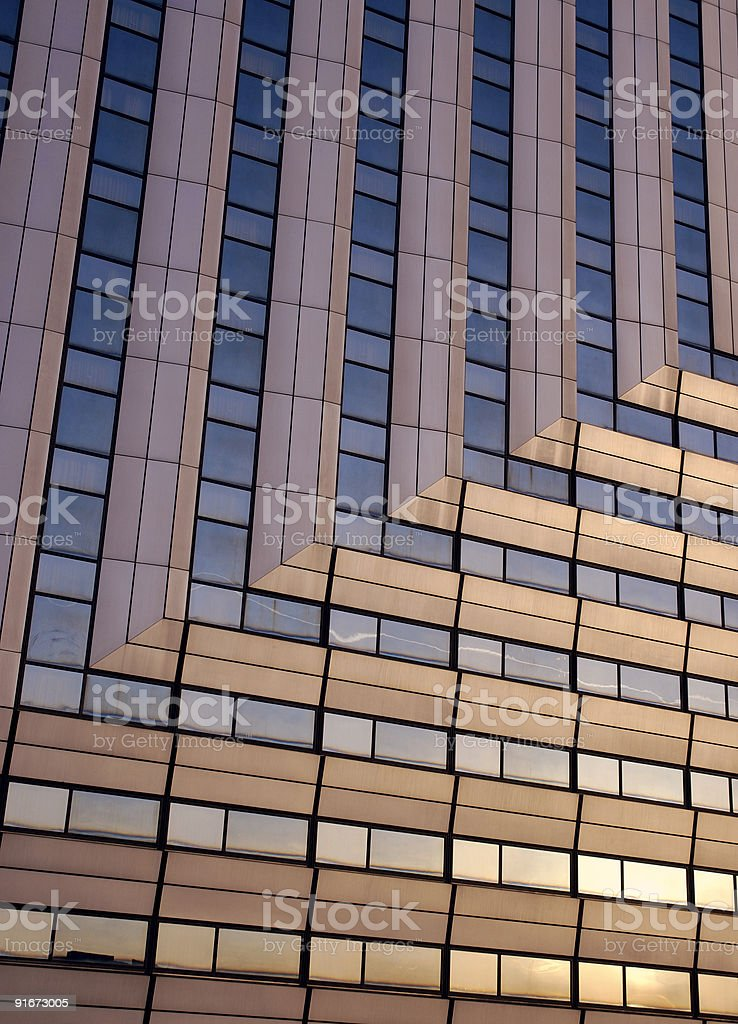 Office Facade at Sunrise royalty-free stock photo