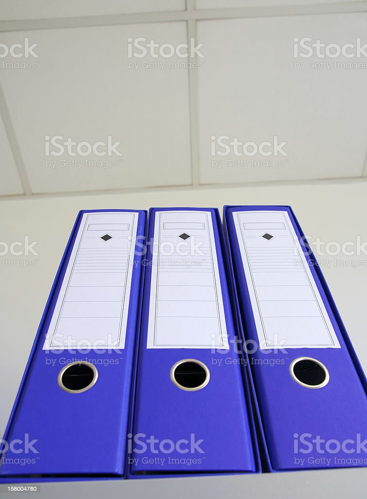 Office file folders royalty-free stock photo