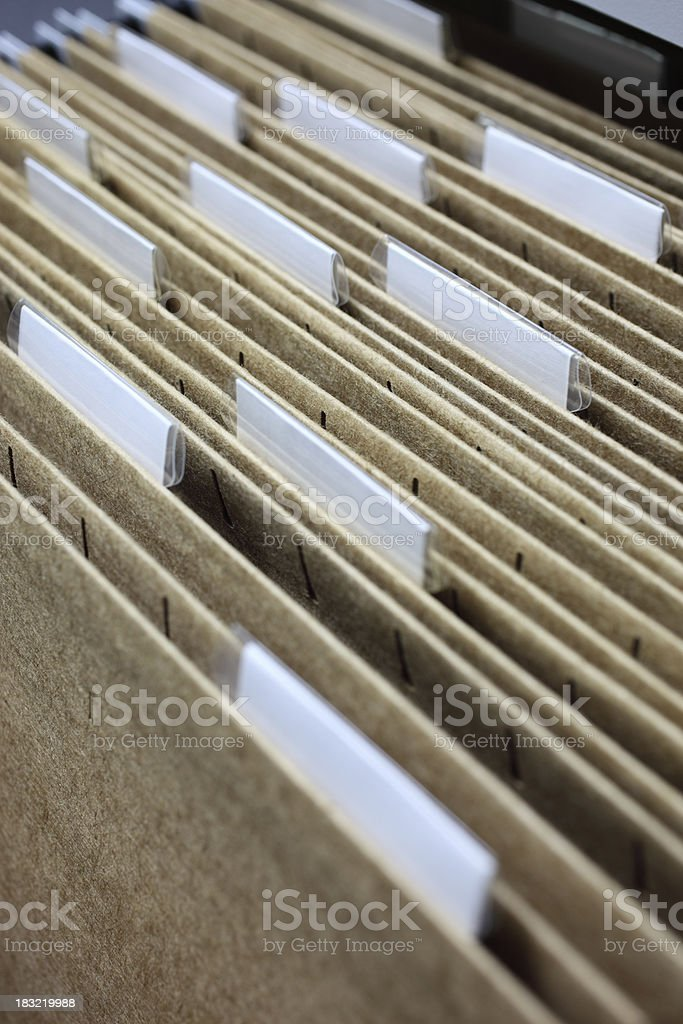 Office Files royalty-free stock photo