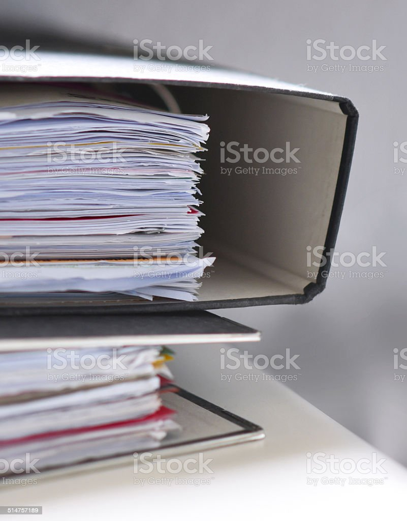 Office files stock photo