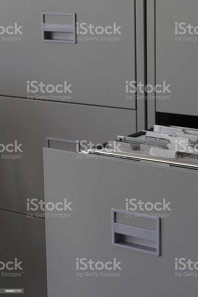 Office Filing Cabinet stock photo