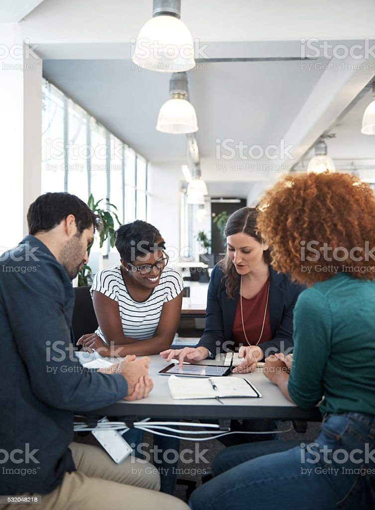 Office filled with productivity stock photo