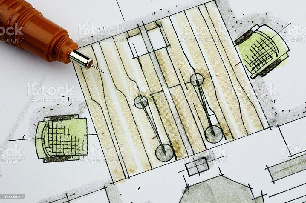 Office Floor Plan royalty-free stock photo
