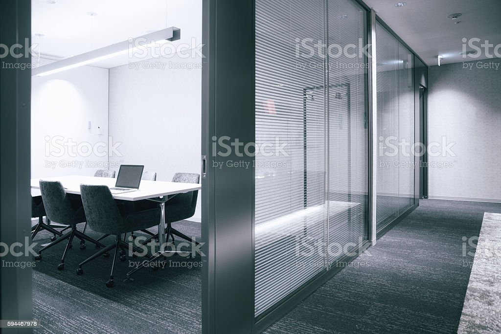 office floor with Conference Room stock photo