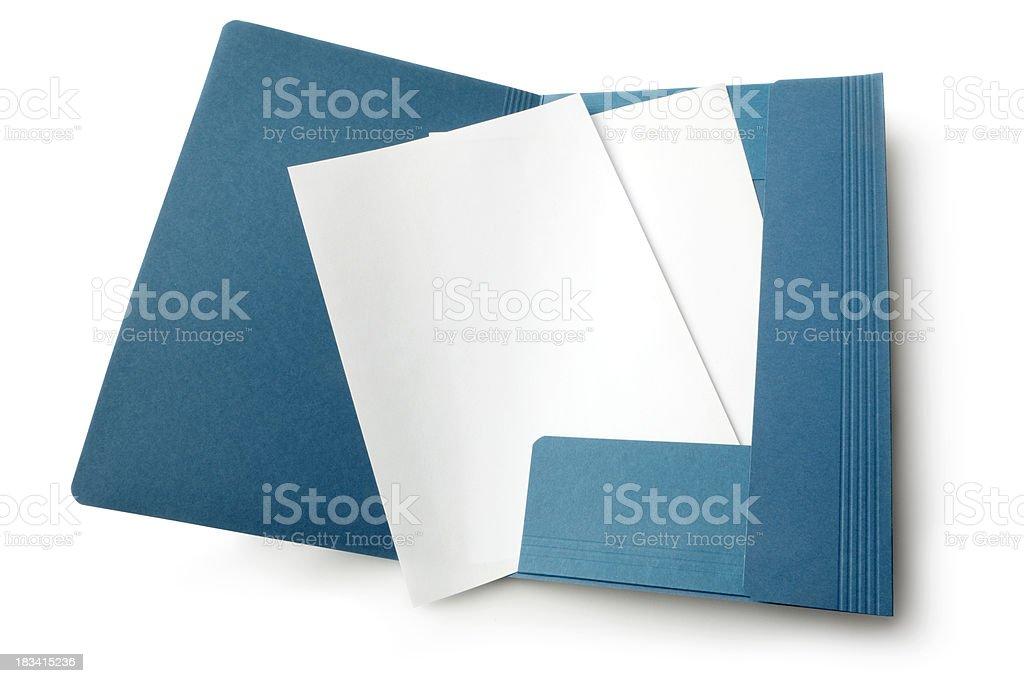 Office: Folder royalty-free stock photo