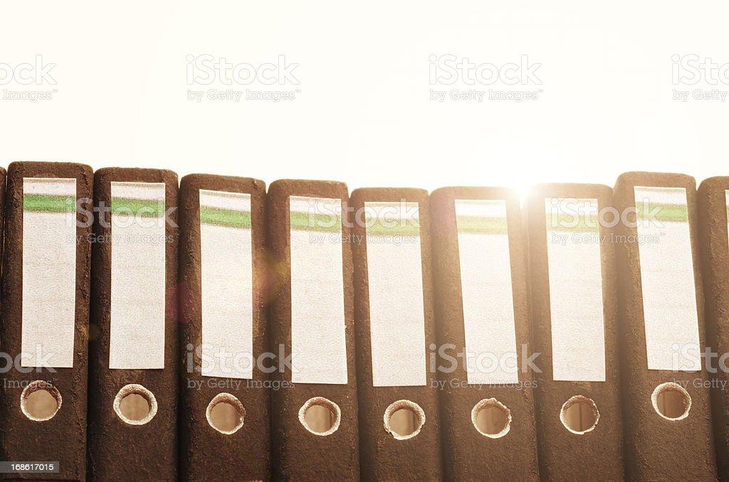 office folders in light stock photo
