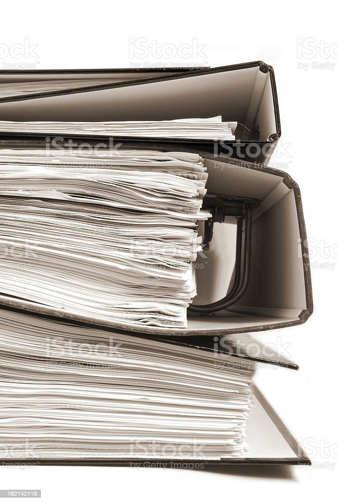 office folders royalty-free stock photo