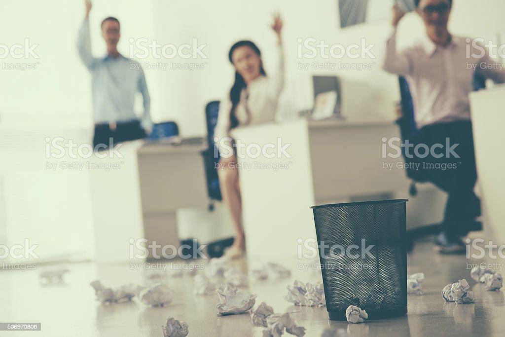 Office fun stock photo